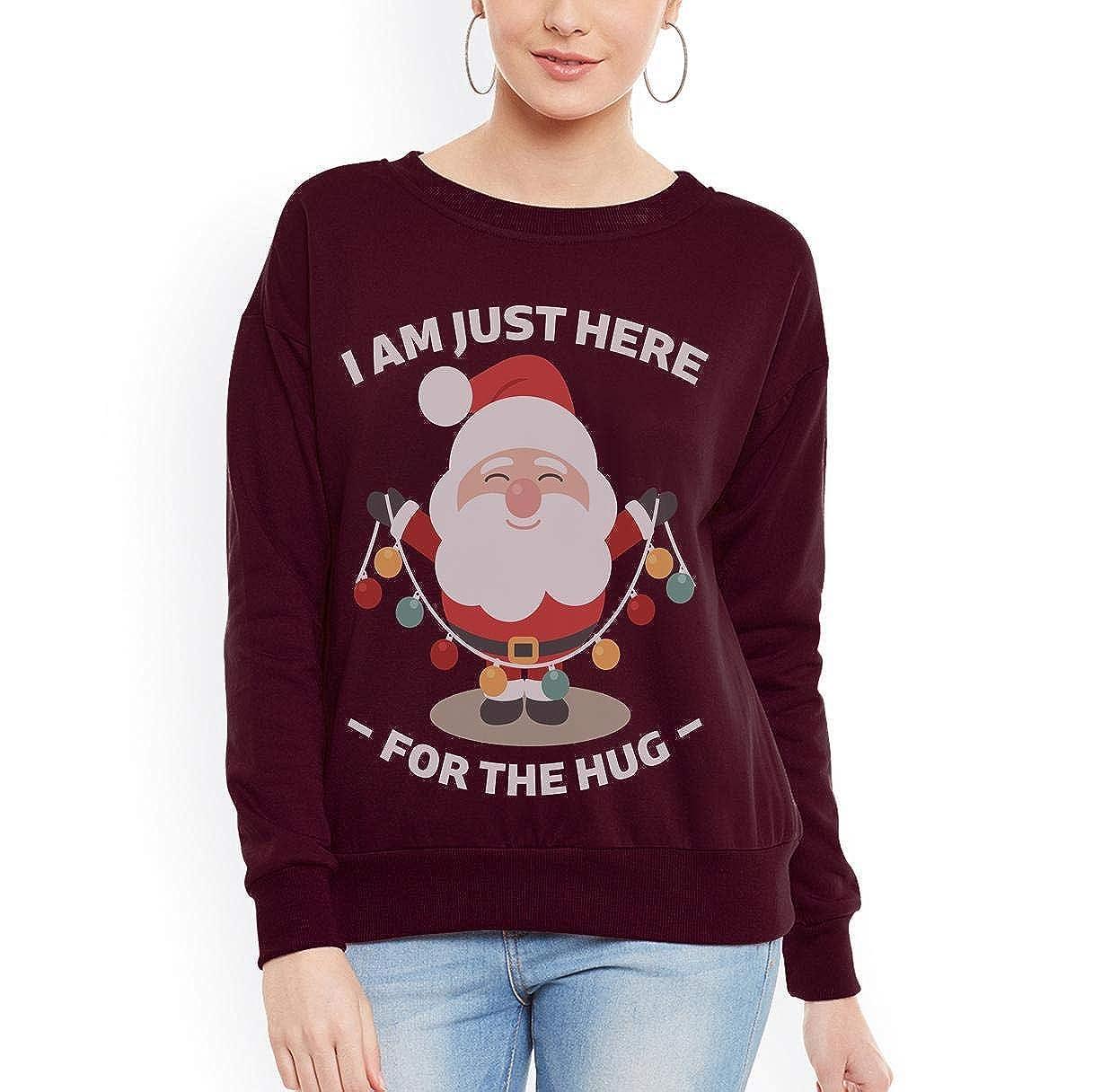 Doryti Funny Furry Santa Funny Christmas Awesome Gift Women Sweatshirt tee