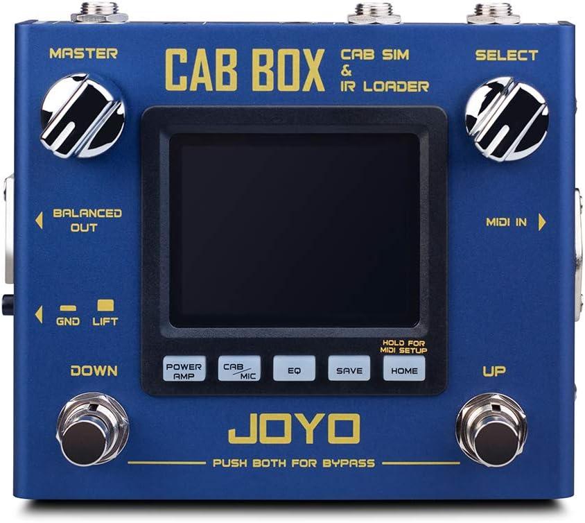 JOYO R-08 CAB BOX Multi Effect Pedal Support IR Loading AMP Pedal Effect, 4 Tube Power AMP Simulations, Multi Pedal