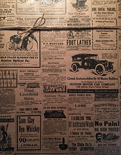 (Vintage Newspaper Wrapping Paper, 24