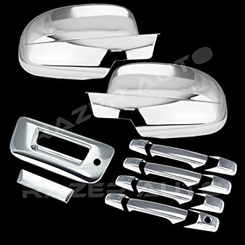 07-14 Silverado 2500+3500 Chrome Tailgate+NO Keyhole+NO Camera Handle Cover