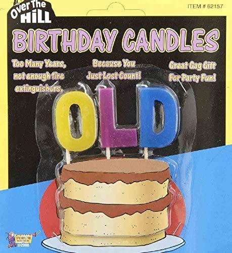 Astounding Amazon Com Old Over The Hill Birthday Candles Kitchen Dining Funny Birthday Cards Online Sheoxdamsfinfo