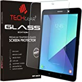 TECHGEAR Screen Protector for Galaxy Tab S3 9.7 Inch (SM-T820 Series) - GLASS Edition Genuine Tempered Glass Screen Protector Guard Cover