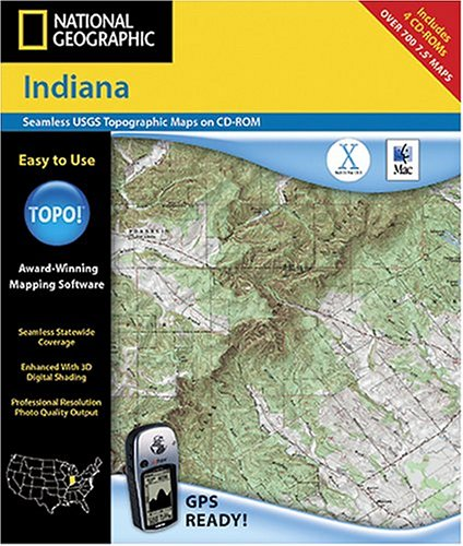 National Geographic TOPO Map of Indiana (Mac)