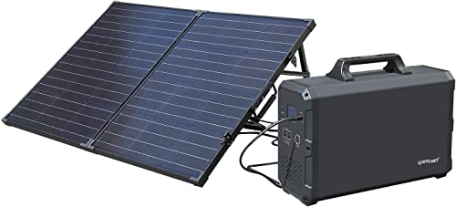 ExpertPower Alpha2400 Rechargeable Solar Powered Station Combo 2400Wh Portable Generator and ONE FREE 100Watt Glass Monocrystalline Solar Panel