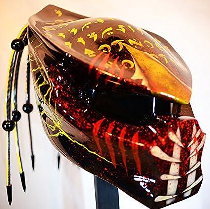 Kustomzairbrushing Fiber Optic Yellow Predator Helmet Large