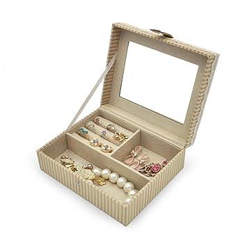 Tracy B Cartoon Lint Jewelry Box Organizer With Mirror For Little Girls,  Travel Jewelry