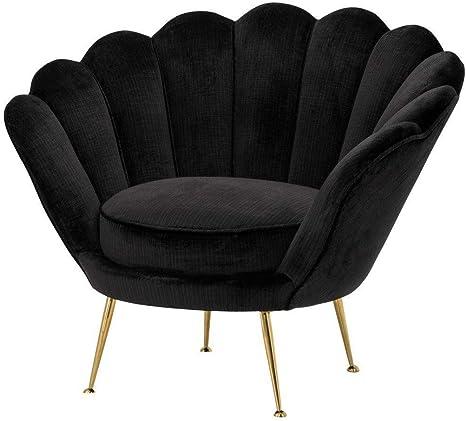 Amazon Com Black Barrel Chair Eichholtz Trapezium Black Scallop Living Room Armchair Kitchen Dining