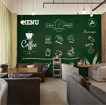 Hyiiw Pizarra De Tiza Personalizada Pintada A Mano Pared 3D Papel Tapiz Postre Tienda De Té Restaurante Bar Caja Gran Mural Telón De Fondo A-450X300Cm: Amazon.es: Bricolaje y herramientas