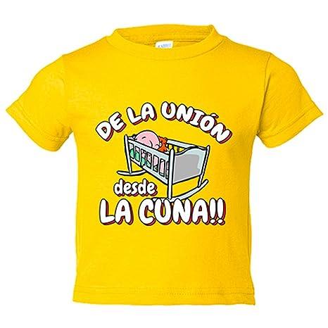 Camiseta niño De la Unión Almería desde la cuna fútbol - Amarillo, 3-4