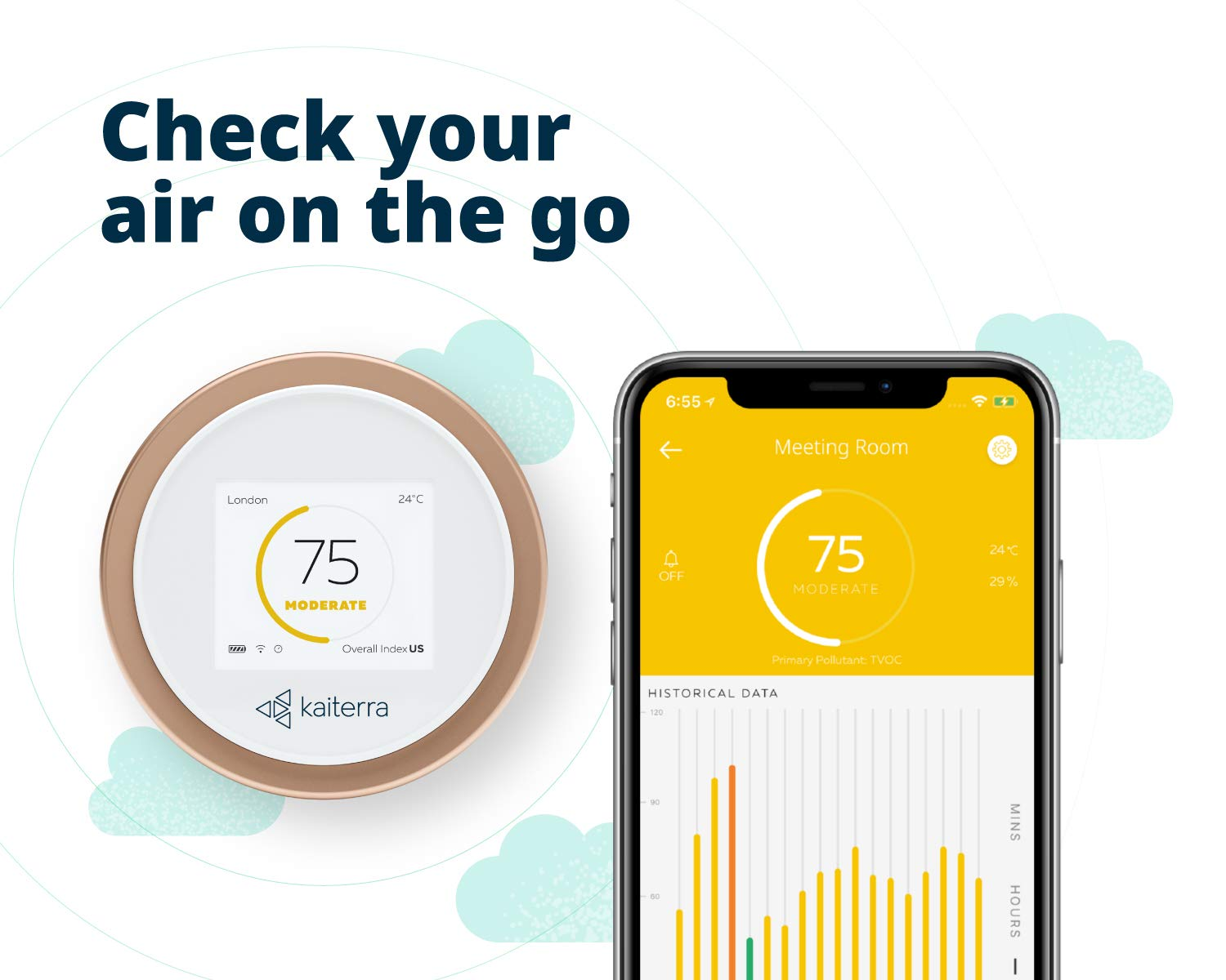 Kaiterra Laser Egg + Chemical | Smart Air Quality Monitor | Gives readings for PM2.5, TVOC, Temperature and Humidity, AQI index, Weather Forecast | Accuracy (�10%) in Indian conditions | Laser-Based Light Scattering Technology kida.in