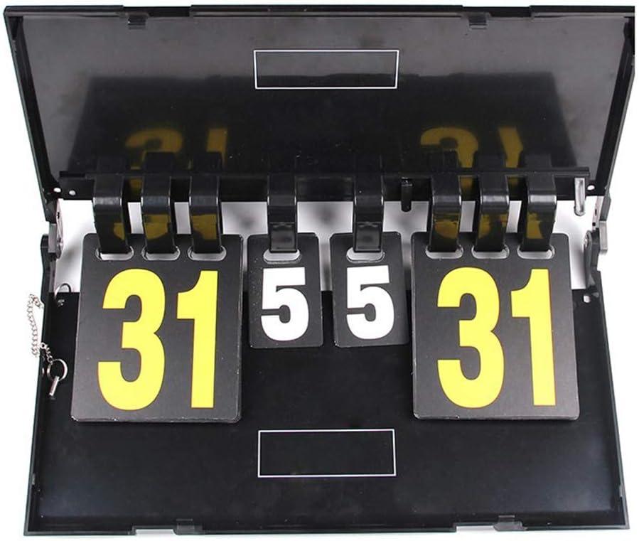 CviAn - Marcador portátil de 4 dígitos para Tabla de puntuación, para béisbol, fútbol, Ping, Pelota, Voleibol, Baloncesto, Ping-Pong, Tablas de puntuación