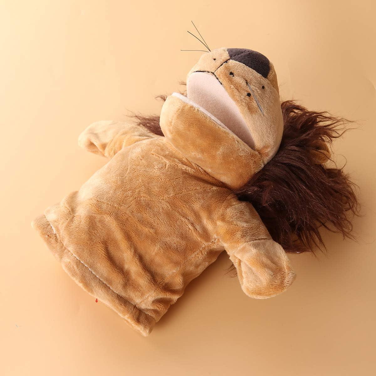 beb/és y ni/ños juegos de rol para adultos marioneta de mano de peluche Toyvian Peluche de le/ón