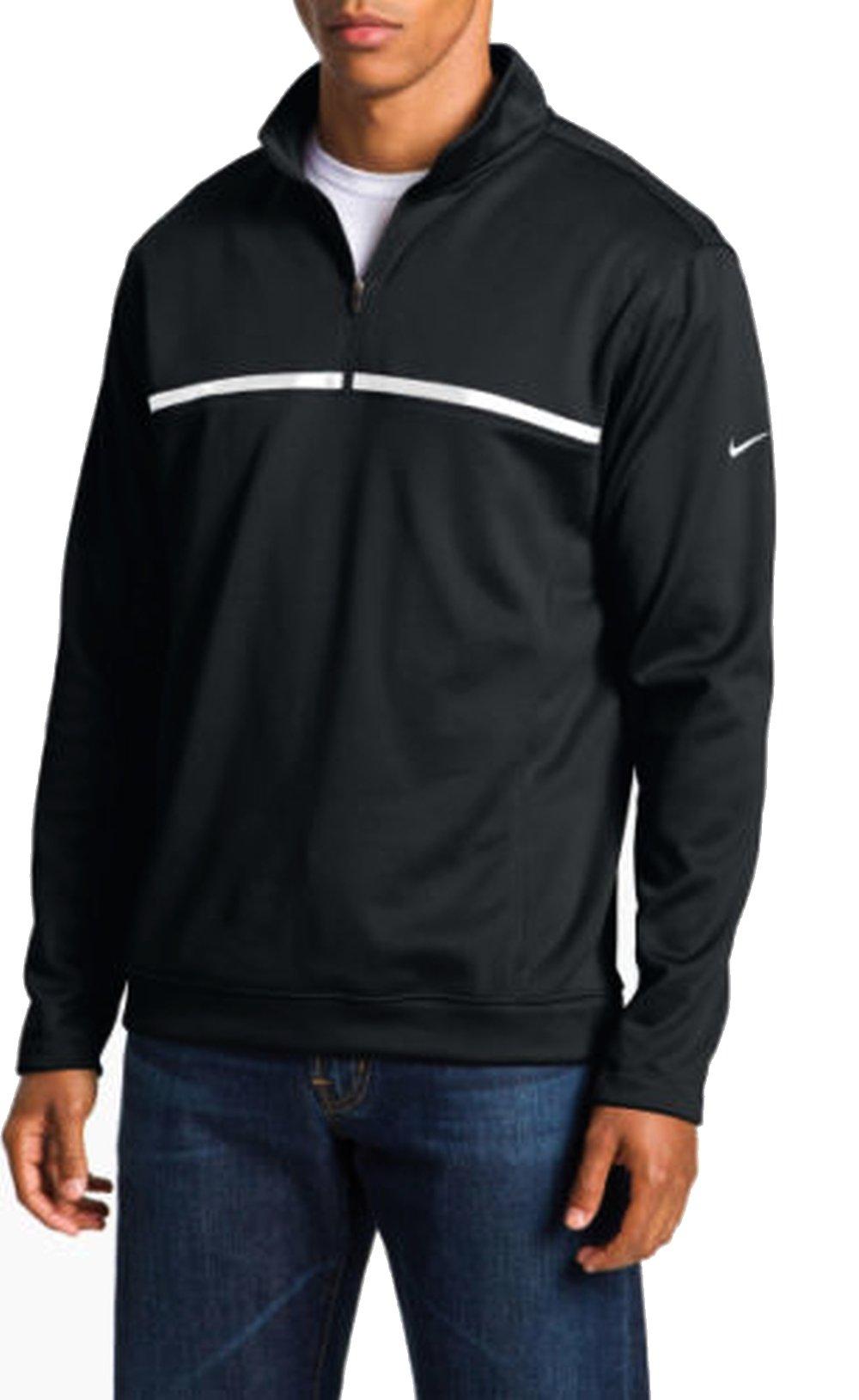 Nike Golf Men's Therma Fit Quarter Zip Pullover Black White XL