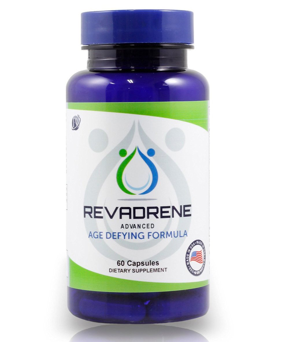 Natural Hair Growth Vitamins With Collagen - Advanced Hair, Skin & Nails Support For Men & Women (30 Day Supply of Revadrene)
