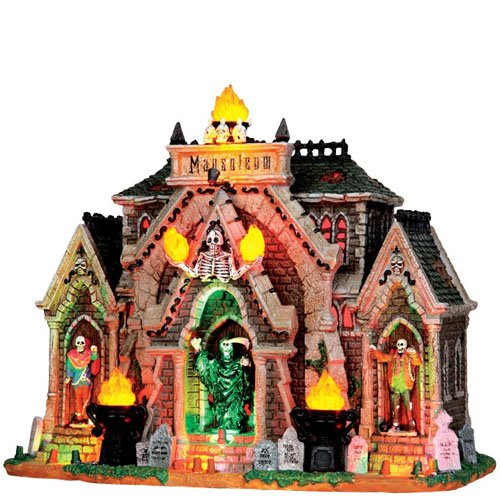 (Lemax 35491 ALL HALLOWS MAUSOLEUM Spooky Town Lighted Building Halloween)