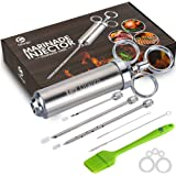 Ofargo Stainless Steel Meat Injector Syringe with 3 Marinade Injector Needles for BBQ Grill Smoker, 2-oz Large Capacity…