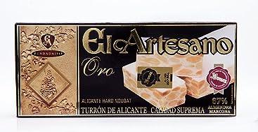 El Artesano ORO Crunchy Almond Alicante Turron (Turron de Alicante Duro Serie Oro) 5.3