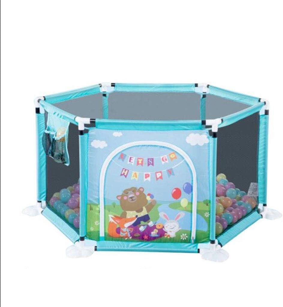 子供の安全フェンス 幼児と子供のフェンスベビーゲーム室内の家庭の幼児の安全クロールフェンス反秋クロールパッド遊園地(ボーナス:200海洋ボール)