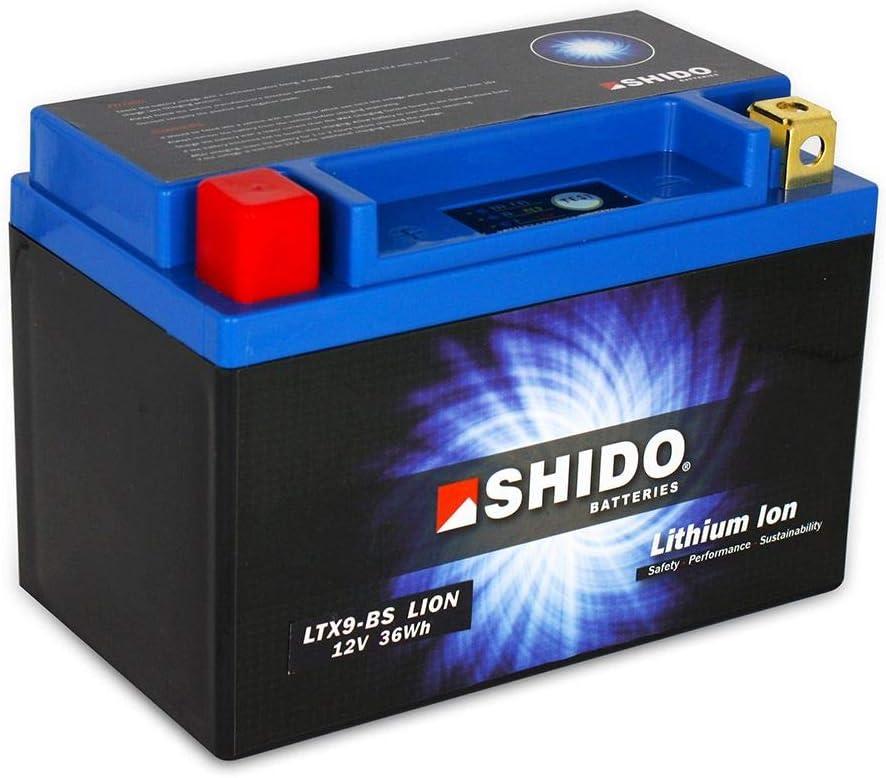 Batería 12 V 3 Ah (8AH) YTX9-BS iones de litio Shido 50812 Wolf SB125Ni PD12A 12-14
