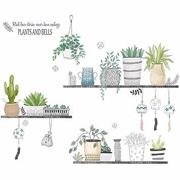 Xjklfjsiu Kreative Handgemalte Pflanzen Wand Aufkleber Kunst