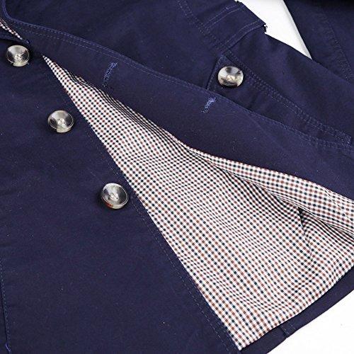 Giacca Stile Autumn Petto Cappotti Blu Collo Aderente Outerwear Donna Spring Blazer 2016 Lunghe Con Militare Uomo Casual Trench New Da Zicac Ripiegato A Parka Maniche q7USxpxt