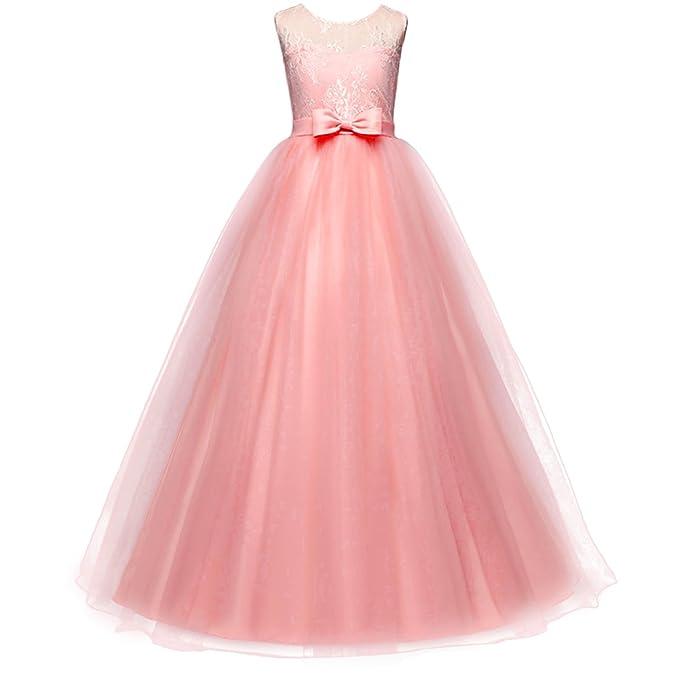 Vestido de niña de flores para la boda Princesa Vestidos de Dama De ...