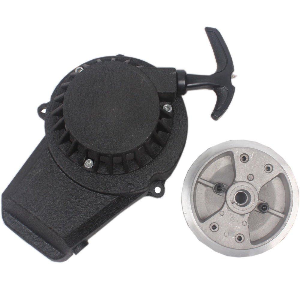 Wingsmoto Easy Pull Start Recoil Starter with Fly Wheel 47 49cc 2 Stroke Pocket Bike ATV Black