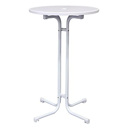 Amazoncom Vispronet In Tall Round Highboy Table With MDF - Tall round cocktail table