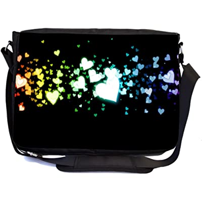 c8d8d403ad9b cheap Rikki Knight Glowing Hearts Love Design Multifunctional Messenger Bag  - School Bag - Laptop Bag