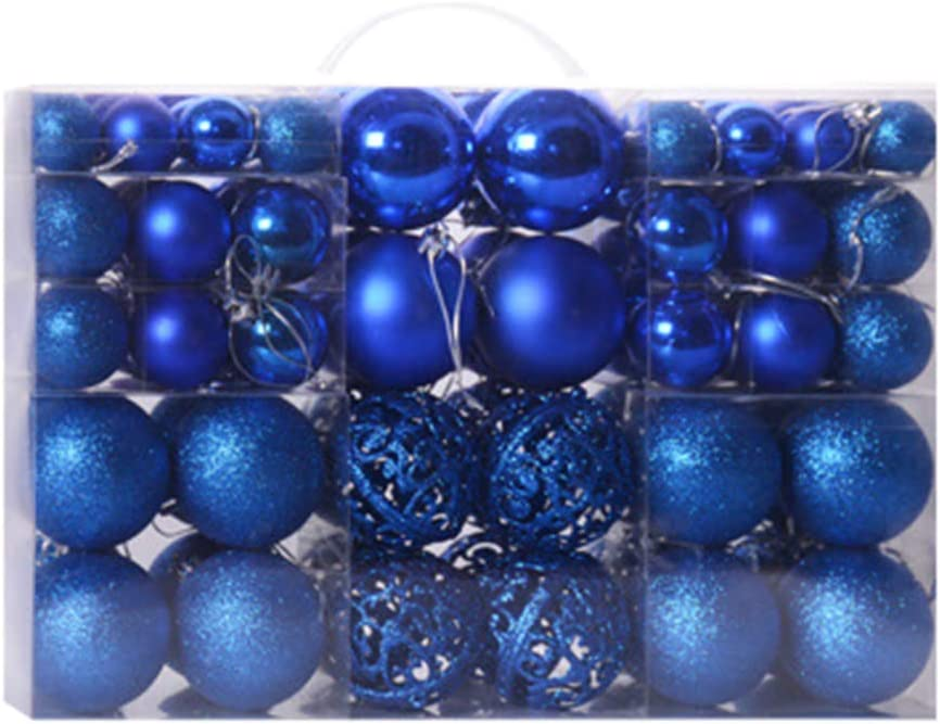 Black, 3-6cm OUlike 100 pcs Christmas Balls Ornaments for Xmas Tree,Shatterproof Christmas Tree Decorations Ornaments Hanging Christmas Supplies Set.