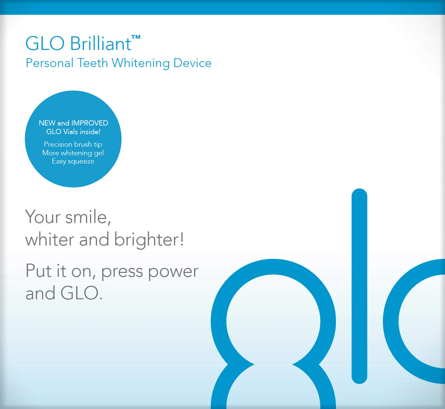 GLO Brilliant Deluxe Teeth Whitening Device Kit with Patented Blue LED Light & Heat Accelerator for Fast, Pain-Free, Long Lasting Results. Clinically Proven. Includes 10 GLO Gel Vials+ Lip Care, WHITE by GLO Science (Image #13)