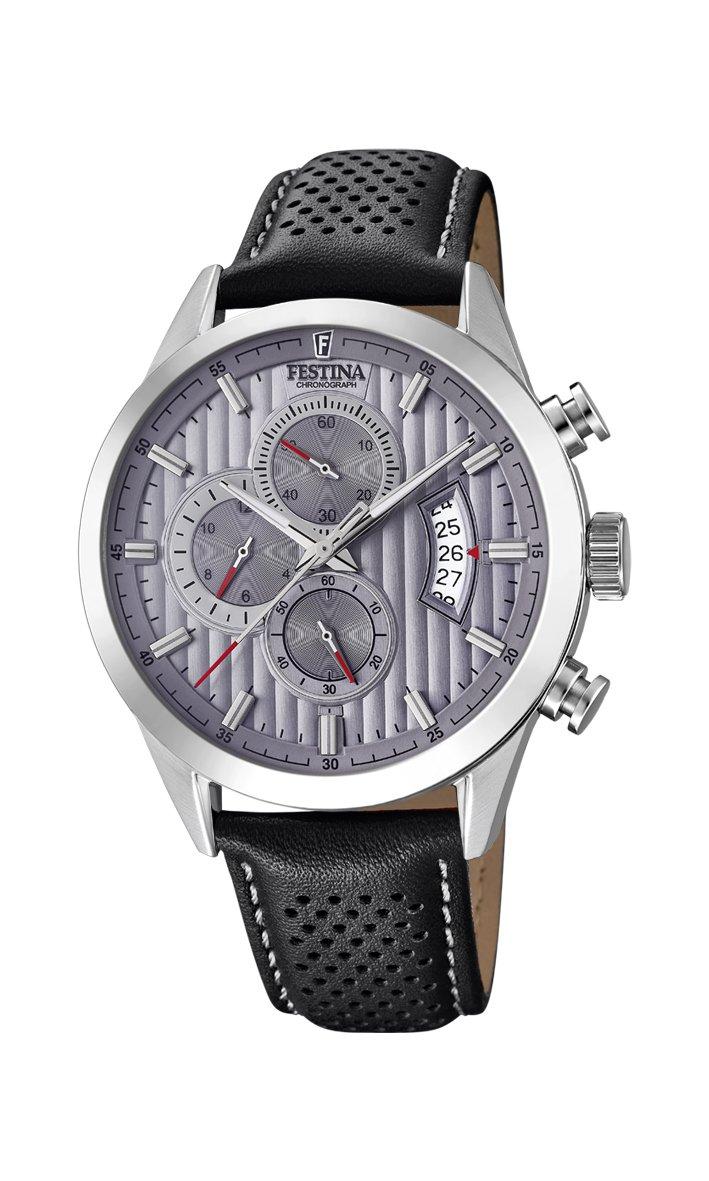 Men's Watch - Festina - F20271/3 - Analog - Quartz - Chronograph - Leather Band by Festina
