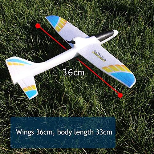 TOOGOO Juguete Regalo Aerodin/áMico para Ni?Os Condensador Modelo Educativo El/éCtrico de Lanzamiento de la Mano Divertido DIY Planeador Espuma RC Aeroplano Azul Rojo
