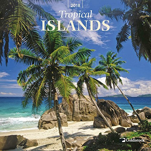 "Goldistock ""Tropical Islands"" Eco-friendly 2018 Large Wall Calendar - 12"" x 24"" (Open) - Thick & Sturdy Paper - Your Paradise is Waiting"