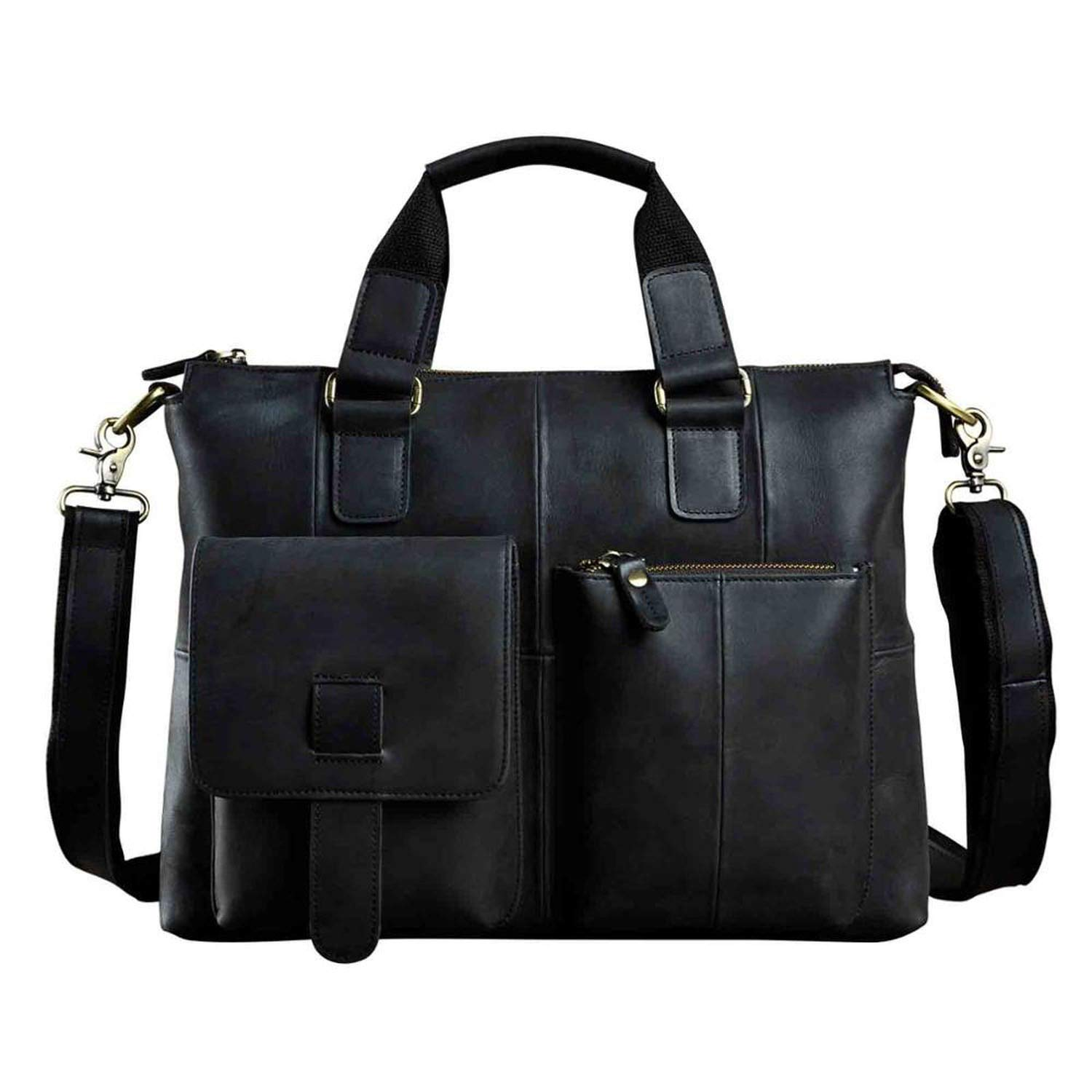 Amazon.com | Men Genuine Leather Office Maletas Business ...