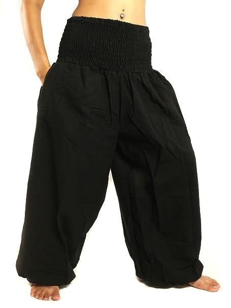 Amazon.com: jing tienda corte alto harén pantalones con ...