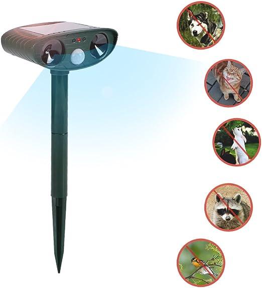 Parkomm Ahuyentador Solar para Gatos, Animales, con Sensor de ...