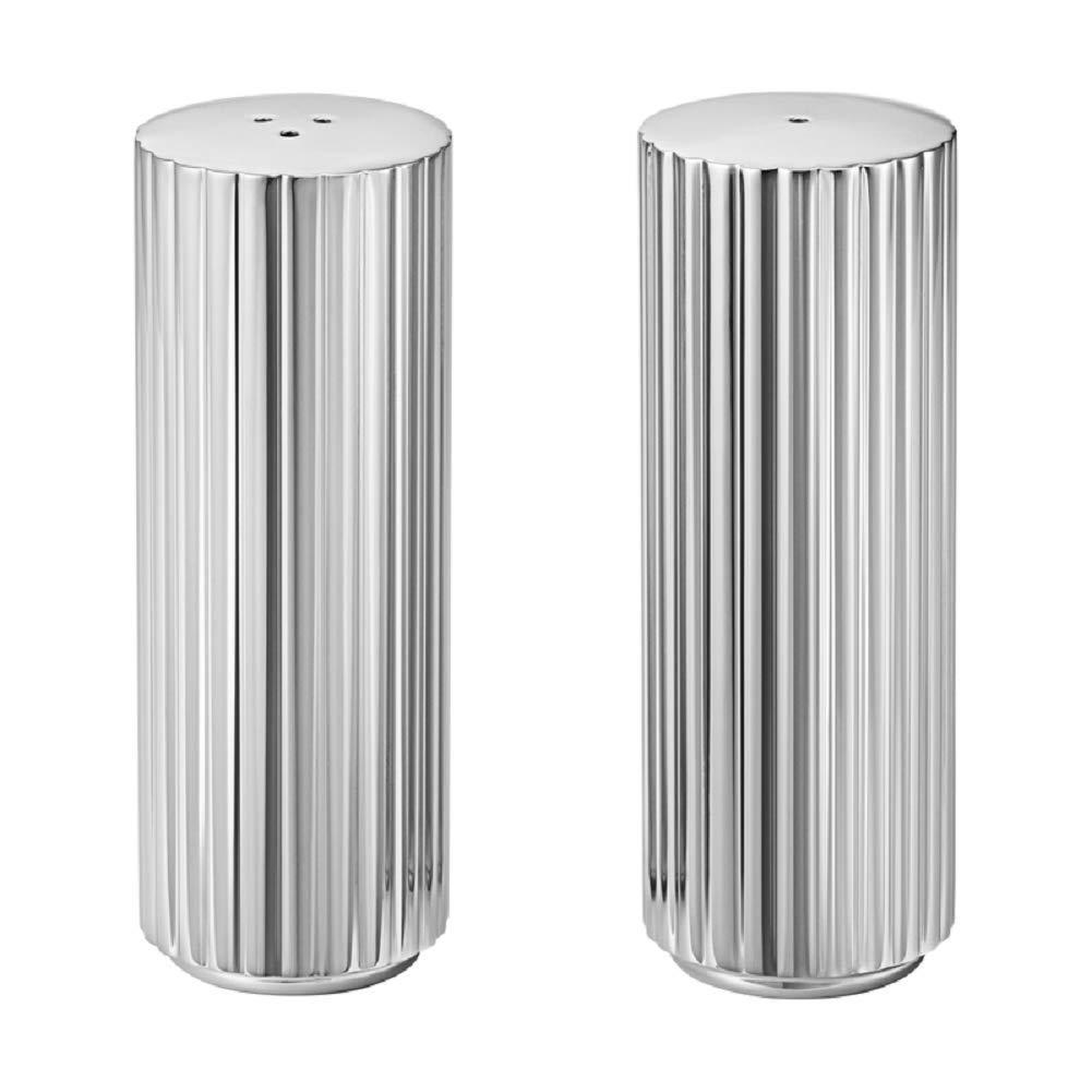 Georg Jensen Bernadotte Salt & Pepper Shakers, Stainless Steel by Georg Jensen