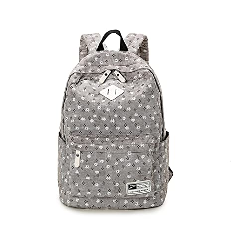 e20efeab81 Image Unavailable. Image not available for. Color  Winerbag Brand Design  Fresh Cute Book Bags Floral Canvas Printing Backpack ...