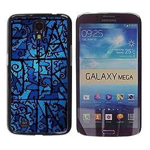 Be Good Phone Accessory // Dura Cáscara cubierta Protectora Caso Carcasa Funda de Protección para Samsung Galaxy Mega 6.3 I9200 SGH-i527 // Glass Night Ghostly Blue Pattern