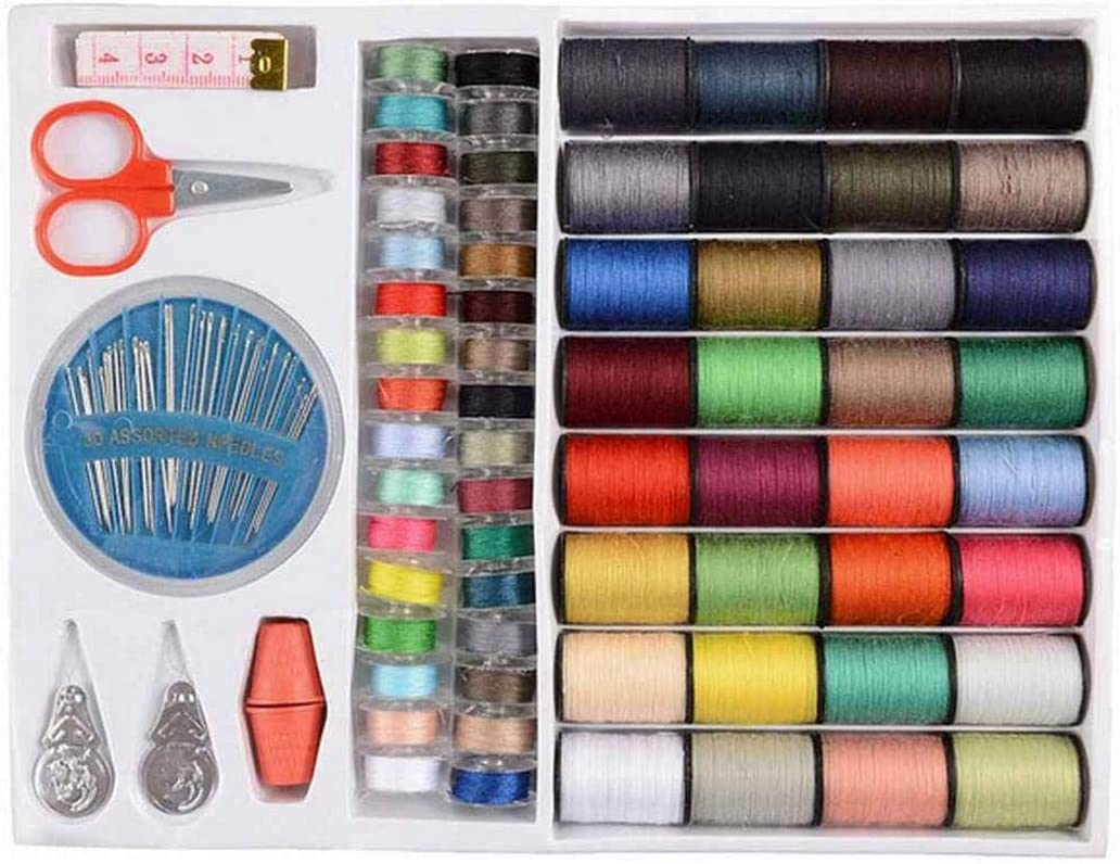 lazinem 64Rolls//Set Mixed Colors Spool Sewing Thread Hand Machine Sewing Thread Suit Sewing