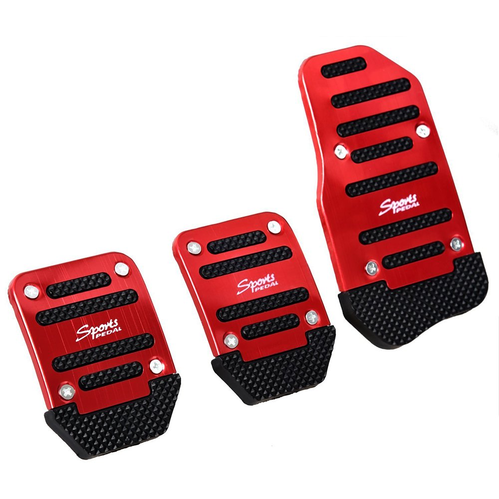 SZSS-CAR 3pcs Nonslip Car Pedal Pads Auto Sports Gas Fuel Petrol Clutch Brake Pad Cover Foot Pedals Rest Plate Kits For Honda,Toyota, VW, Mazada,Porsche, Lexus,Renault.... Shenzhen Letian