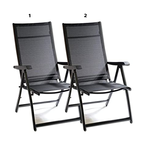 Cool Heavy Duty Adjustable For 7 Different Angles Folding Arm Chair Indoor Outdoor Garden Deck Pool Camping Beach 400 Lbs Capacity 2 Gmtry Best Dining Table And Chair Ideas Images Gmtryco