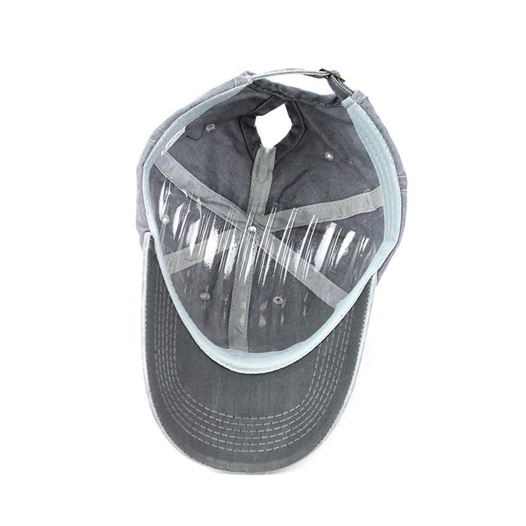 TIREOW Ponycap Messy High Bun Ponytail Adjustable Mesh Trucker Baseball Cap Hat for Women Black