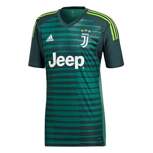 721afc3e7 Amazon.com   adidas 2018-2019 Juventus Home Goalkeeper Football Soccer  T-Shirt Jersey   Sports   Outdoors
