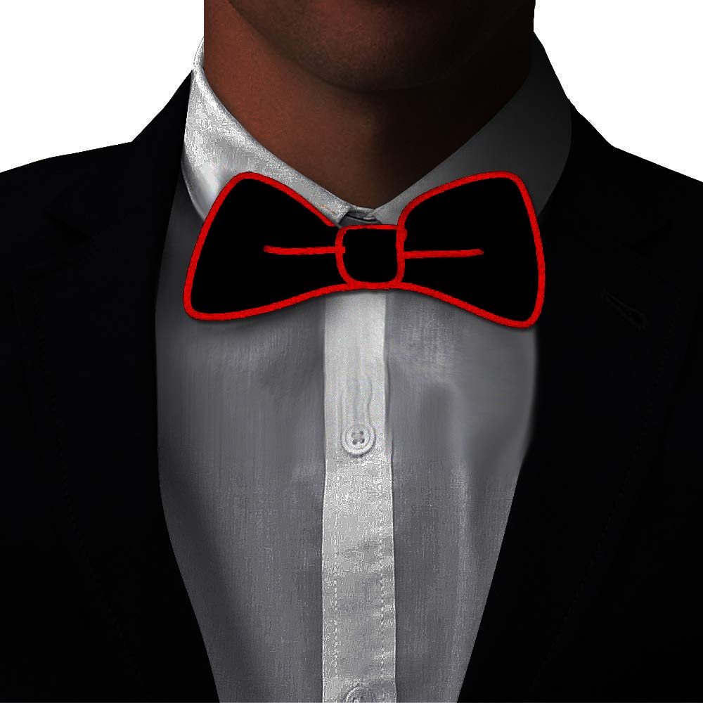 Light Up BowTie Costume Accessory Perfect for Halloween Christmas Rave Party