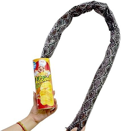 Tricky Toys Potato Chip Snake Can Jump Fake Snake Joke Prank Fool/'s Day Toy