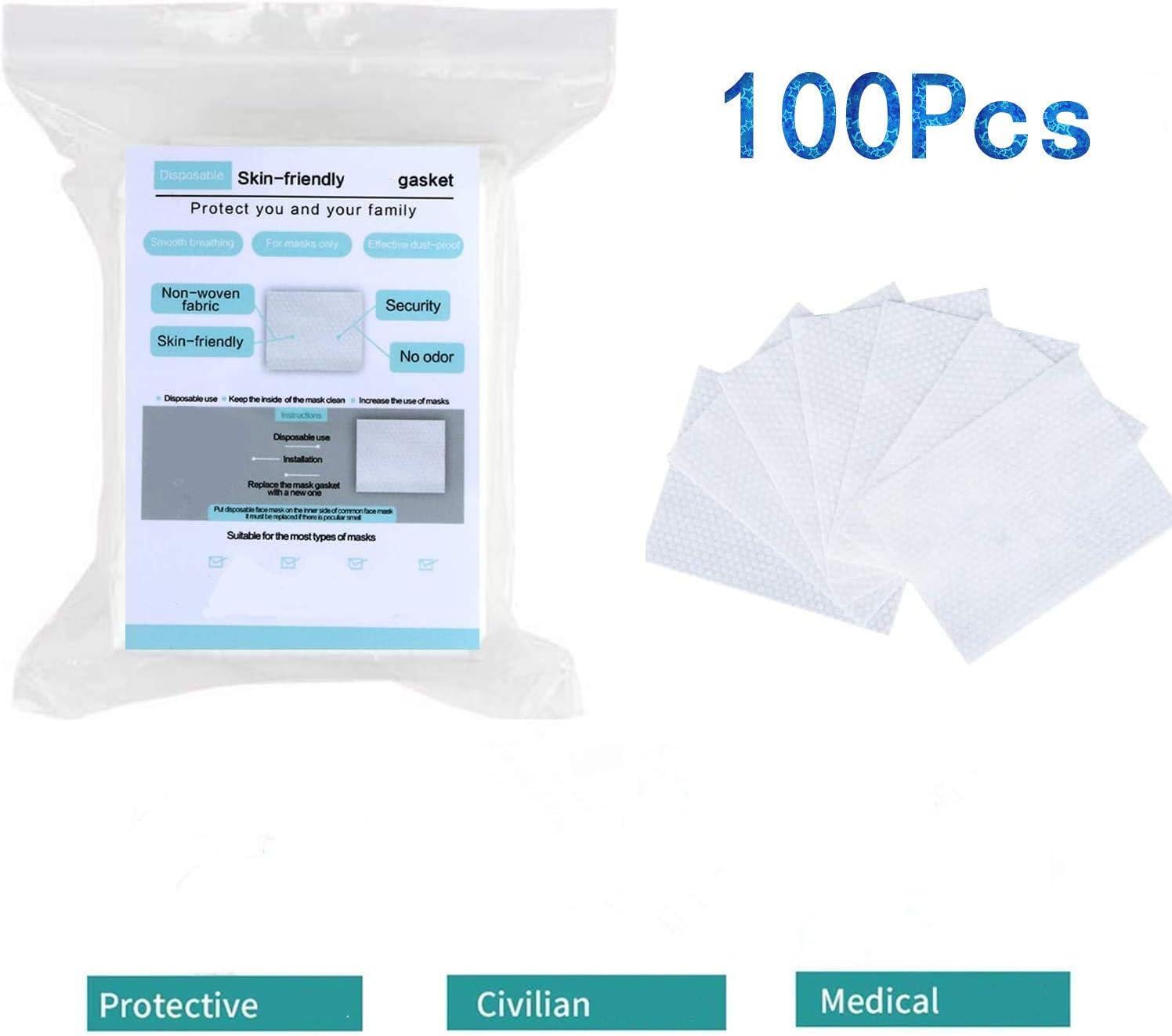 100 almohadillas de filtro desechables, respetuosas con la piel y ...