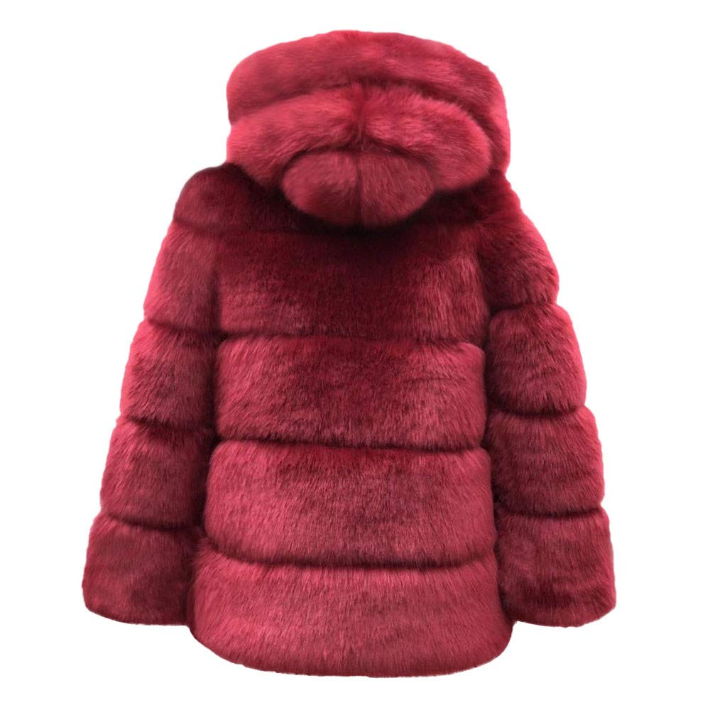 Amazon.com: Misaky Merry Christmas, Womens Faux Fur Coats Winter Hooded Warm Thick Outerwear Jacket: Clothing