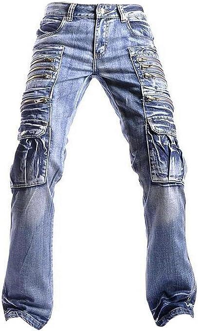 Amazon.com: Jeansian J009 - Pantalones vaqueros para hombre ...